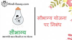Saubhagya yojana hindi essay