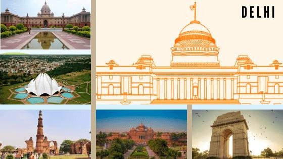 ऐतिहासिक स्थल दिल्ली की यात्रा