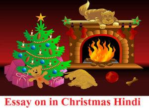 christmas hindi essay