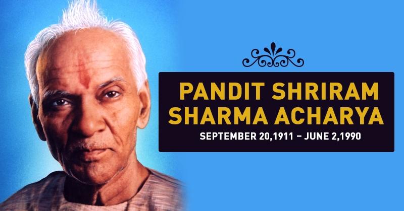 pandit shreeram sharma aacharya biography
