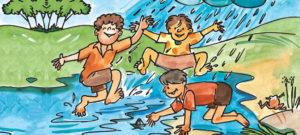 वर्षा-ऋतु में पिकनिक