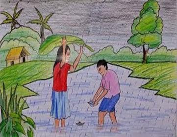 rainy season in hindi essay writing